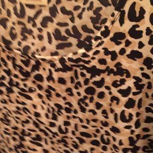 Blouse - leopard print sleeveless tan and black